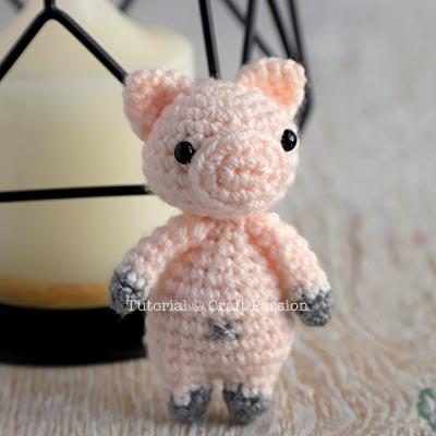padrão de crochê leitão amigurumi