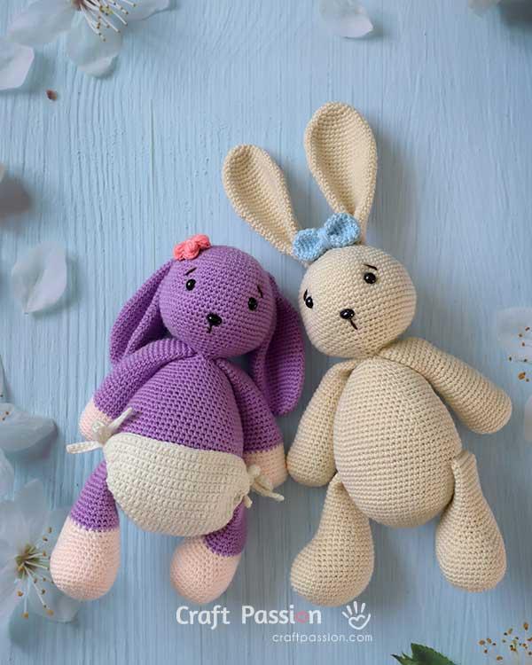 amigurumi bunny with nappy