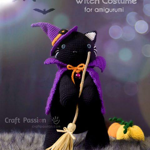 amigurumi witch cat crochet pattern
