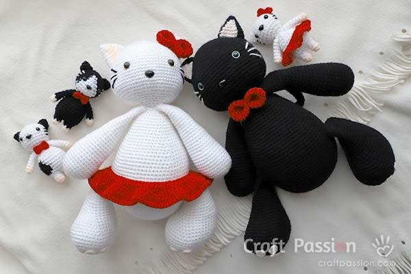 free cat crochet pattern
