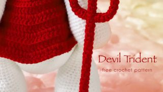 crochet devil trident