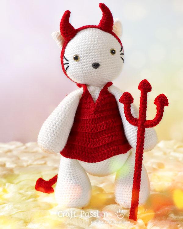tridente faça você mesmo para boneca do diabo vermelho