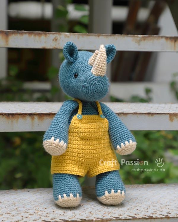 stuffed rhino amigurumi pattern