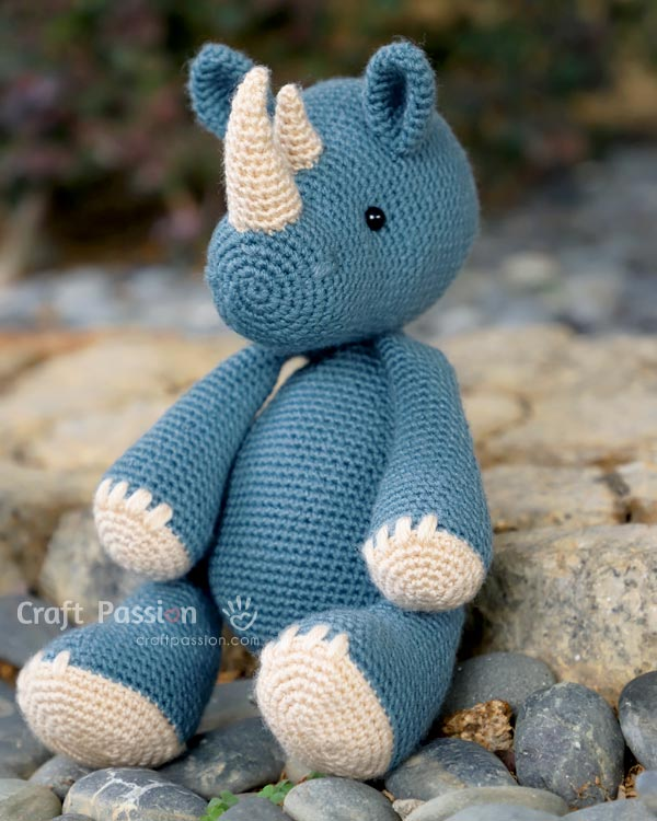 ron rhino crochet pattern