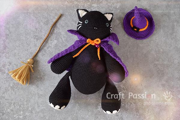 Halloween Witch Costume For Amigurumi
