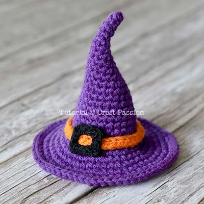 вязанная крючком шляпа ведьмы