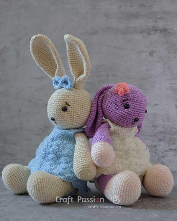 cute bunny in dress crochet pattern