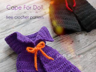 halloween cape crochet pattern