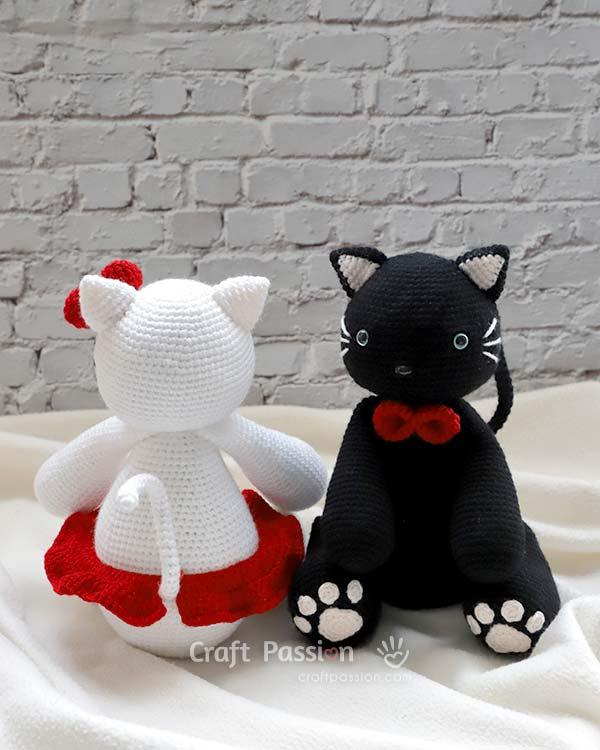 crochet cat cosmo black cat