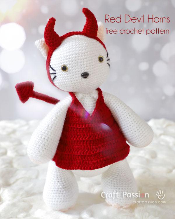 crochet devil horns