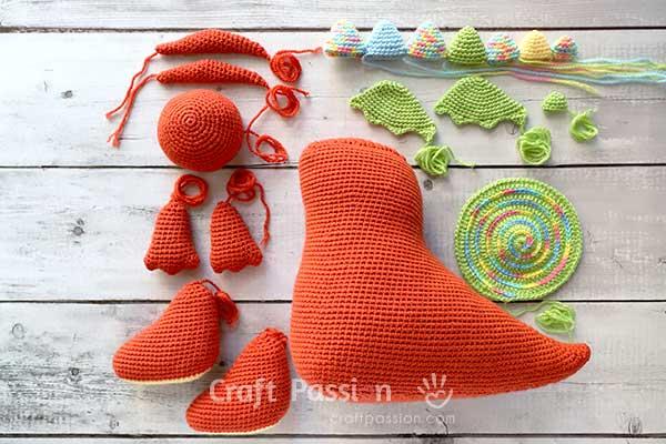 how to crochet dragon