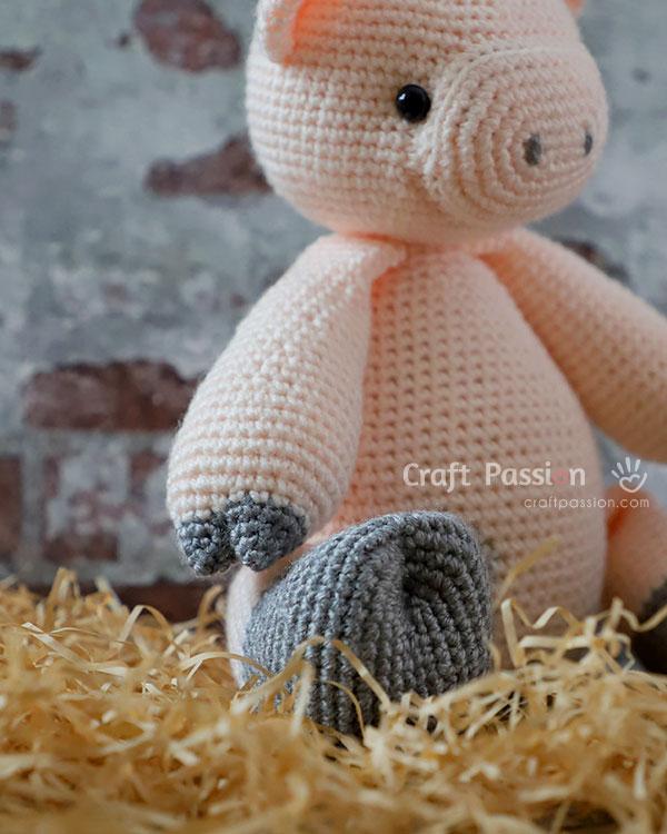 pig arm leg crochet pattern