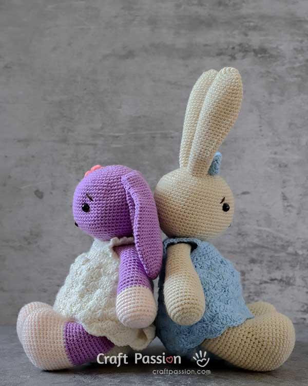 long ear bunny crochet pattern