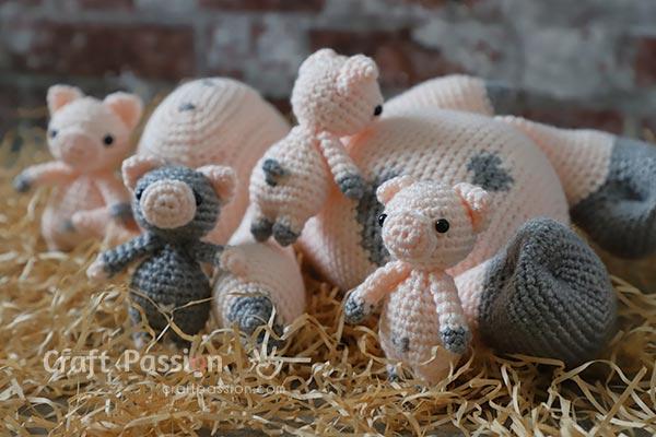padrão de crochê leitão grátis